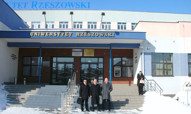 Vor der Universität Rzeszow